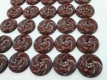 Sweet Chocolate Brown Swirls Vintage Plastic Sewing Buttons by NickelNotions for $4.95