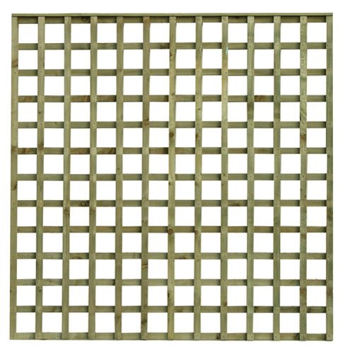Tate Flat Top Square Hole Trellis Panel A Heavy Duty Garden Trellis Ideal  For Top Of