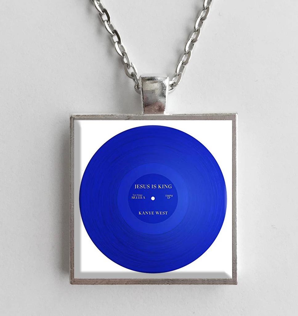 Kanye West Jesus Is King Album Cover Art Pendant Necklace Album Cover Art Art Pendant Album Covers