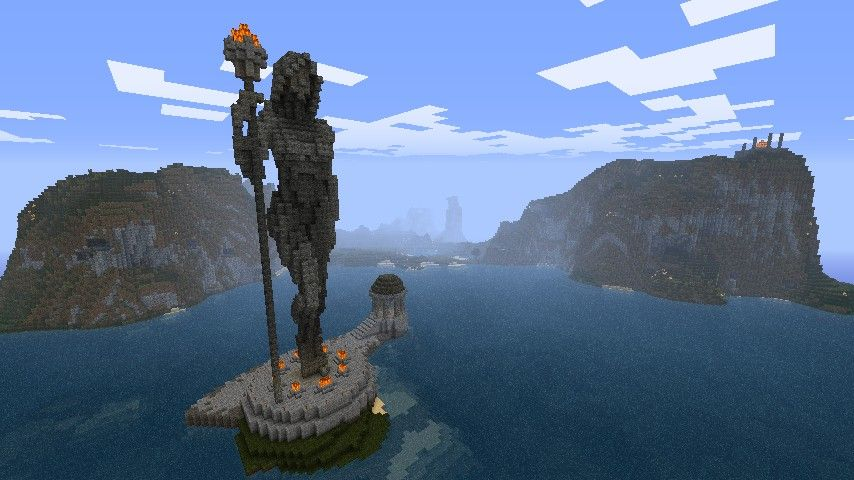 Minecraft Female Statue