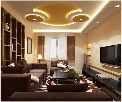 Charming Latest POP False Ceiling Design For Living Room Part 32