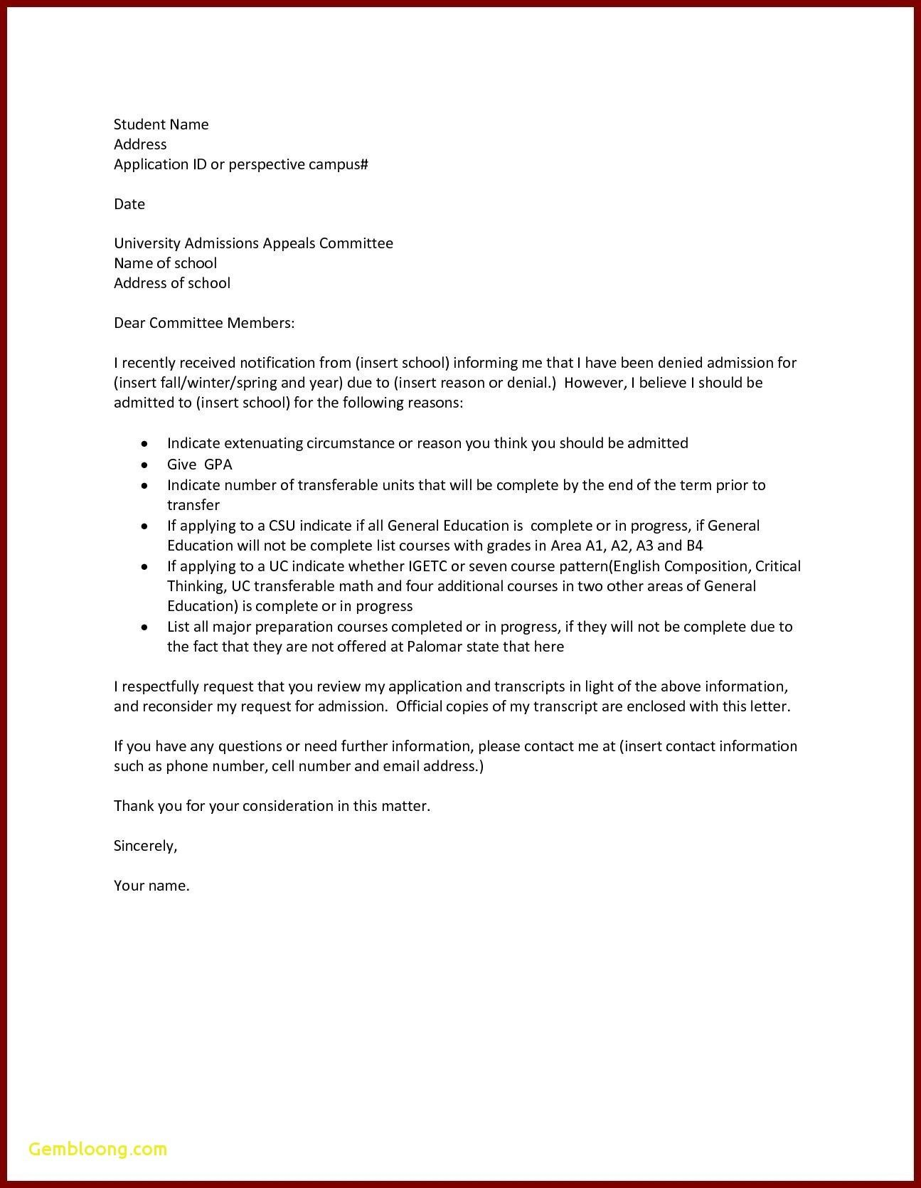 Valid Letter format for Request to Principal Application