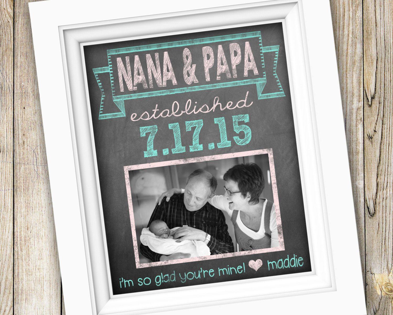 New Grandparents Gift ~ Gift From Grandchild ~ Gift For Nana Papa ...