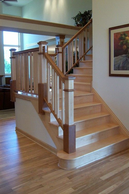 Best Two Toned Stair With Maple Stairs Pinterest Photos 400 x 300