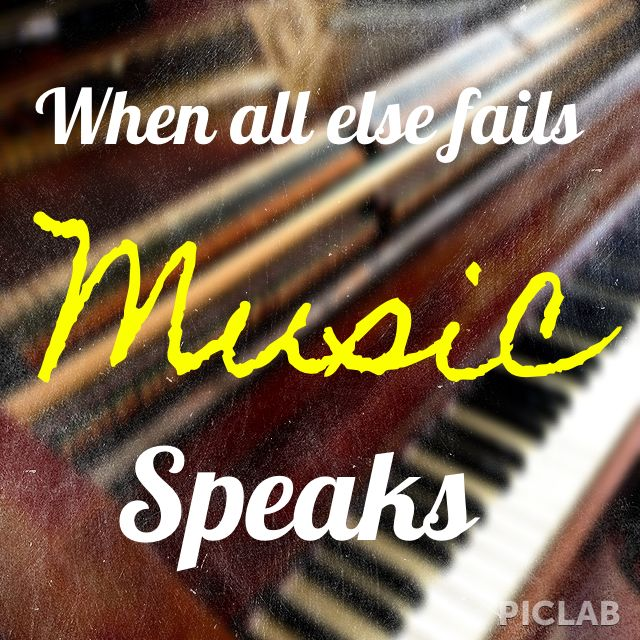 When all else fails. Music speaks. #quote #music | Music is ...
