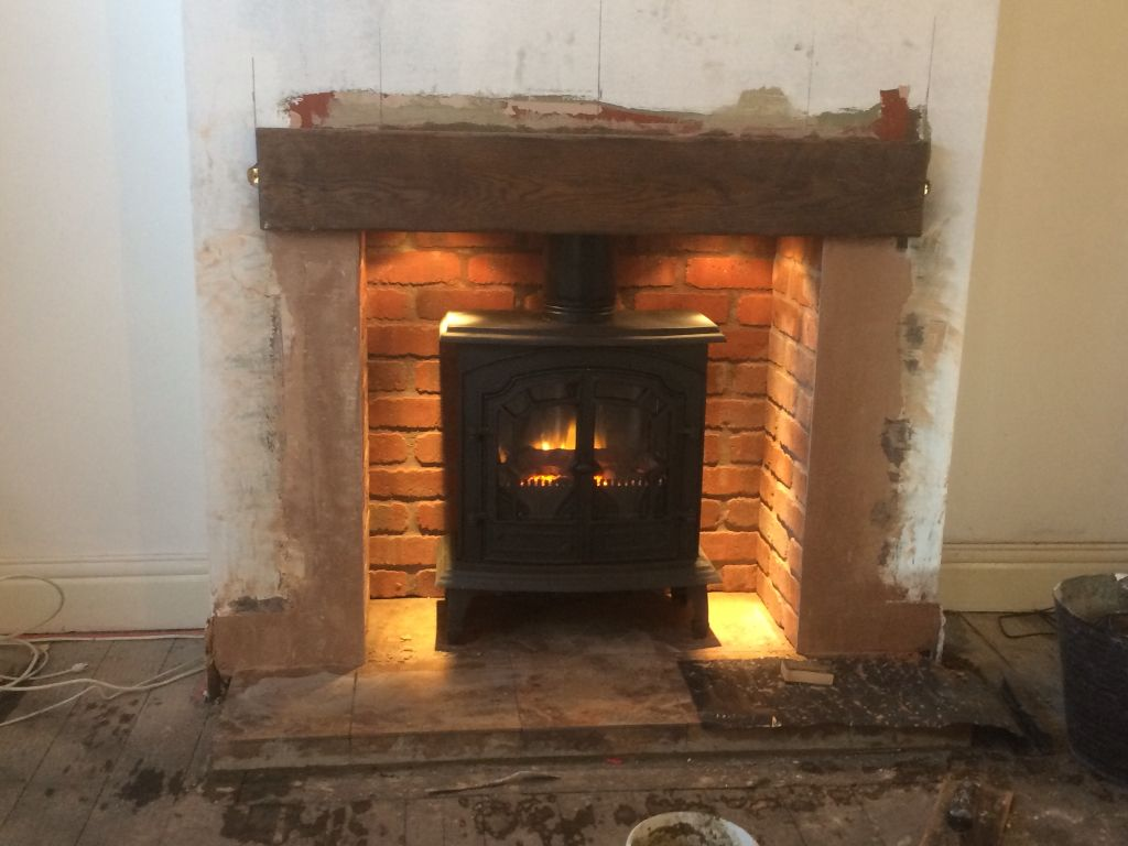 just installed this fantastic cast iron electric stove the brick
