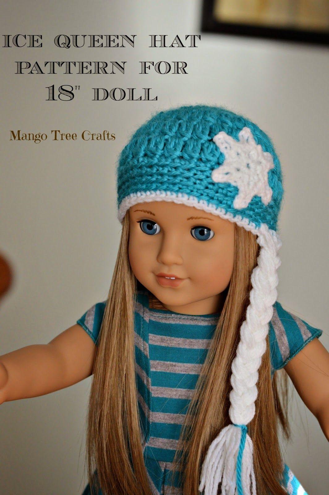 Ice Queen Crochet Hat Pattern for 18\