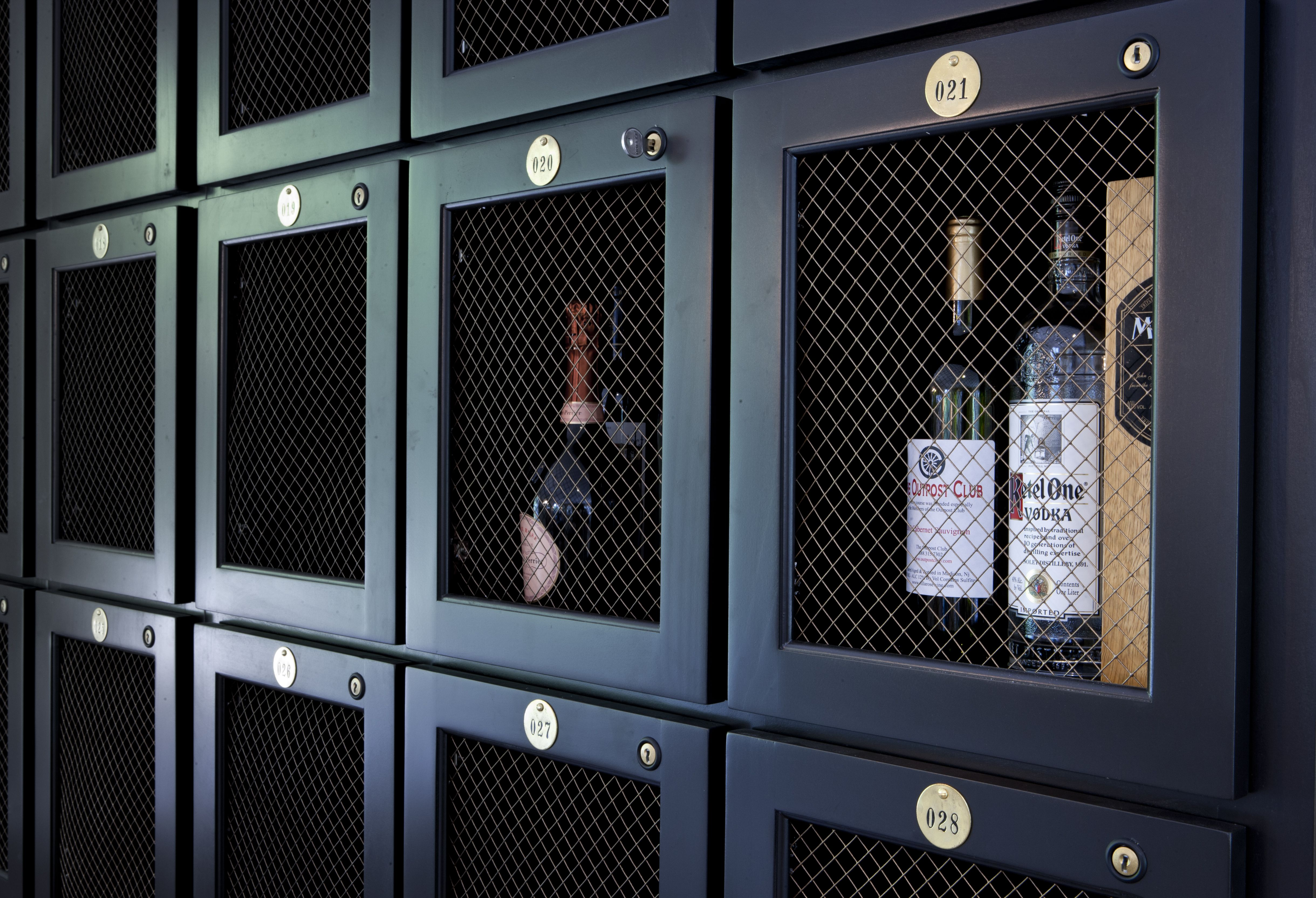 Liquor Lockers Frosted Glass Bar Cabinets Armoire