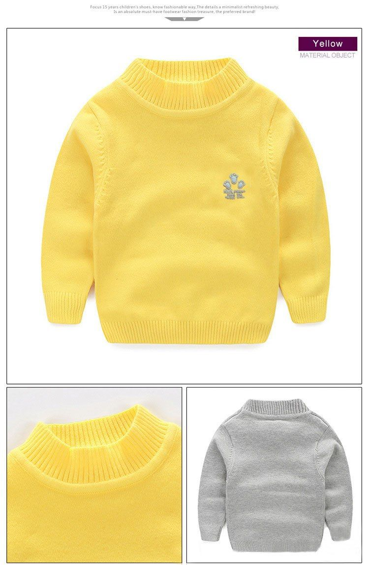 3fcd737a83eb 2017 New Baby Boy Girl Clothes Kids Autumn Winter Knitted Pullovers ...
