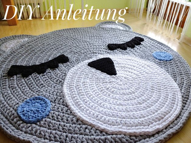Relativ Häkelanleitung Bärenteppich / DIY / Teppich Bär made by TaTi via IN07