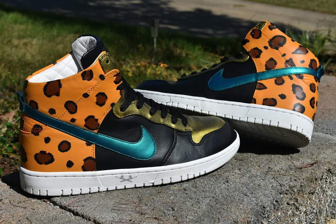buy popular d6bcc 664fe Custom Jacksonville Jaguars nike dunks IG creationsbykb