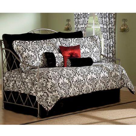 Astor Black & White 4 Pc Daybed Comforter Set   Daybed bedding