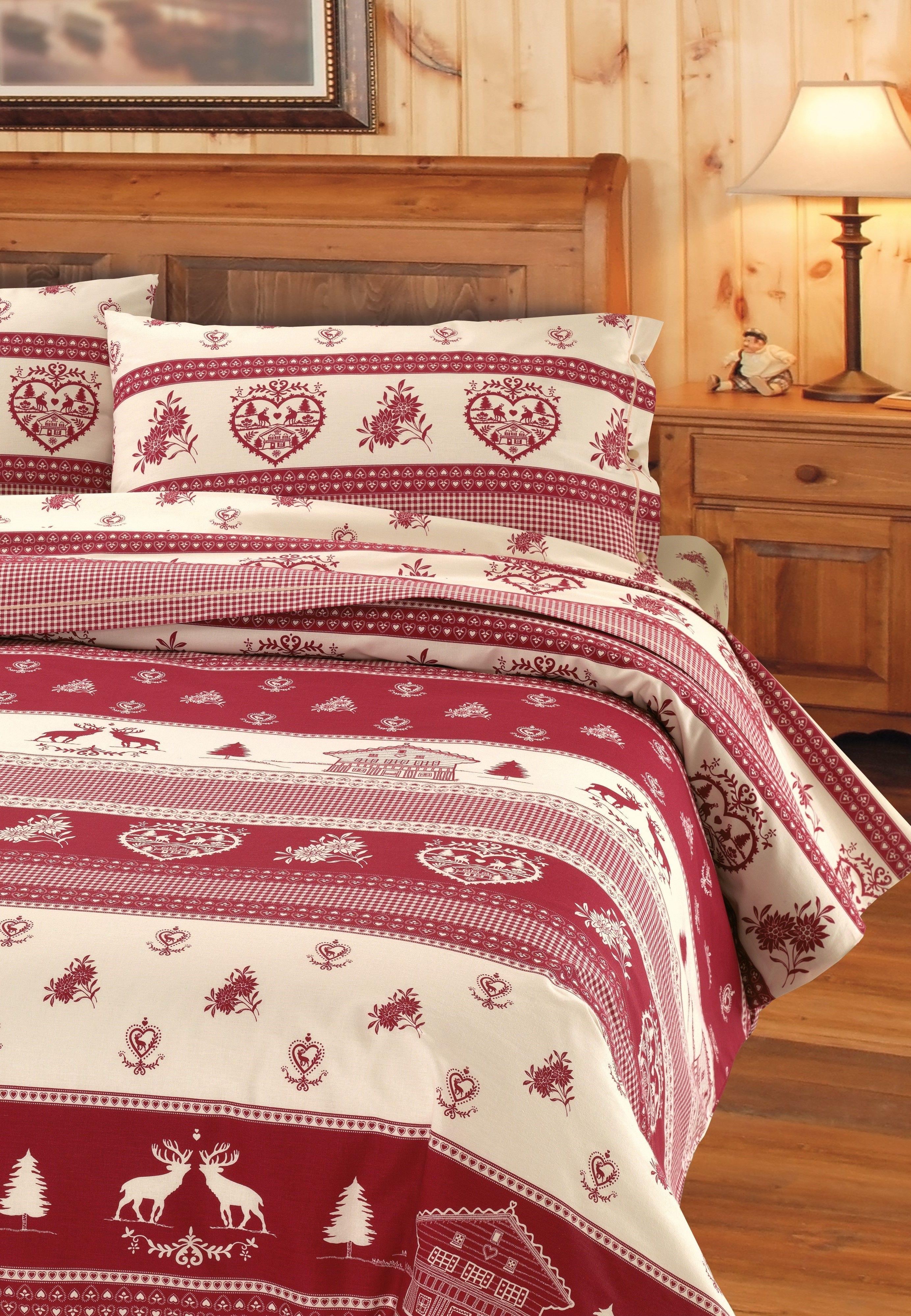 Dieses Bettwäsche-Set begeistert durch das winterliche Motiv und die ...