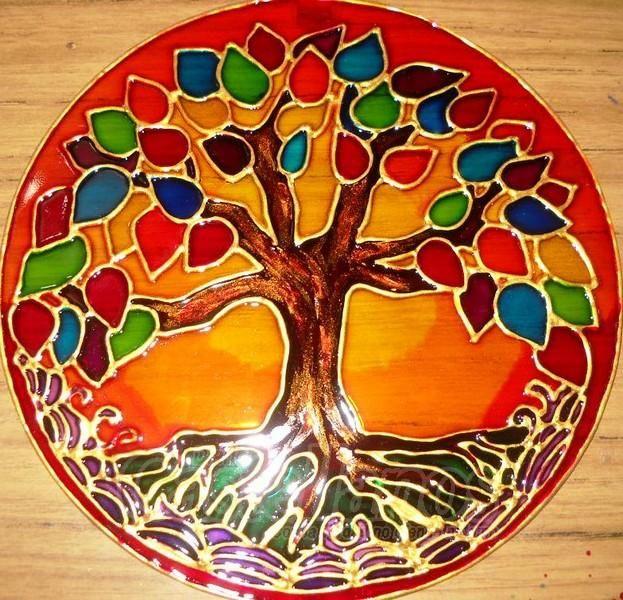 Resultado de imagen para mandalas pintados en cd mandalaslugares