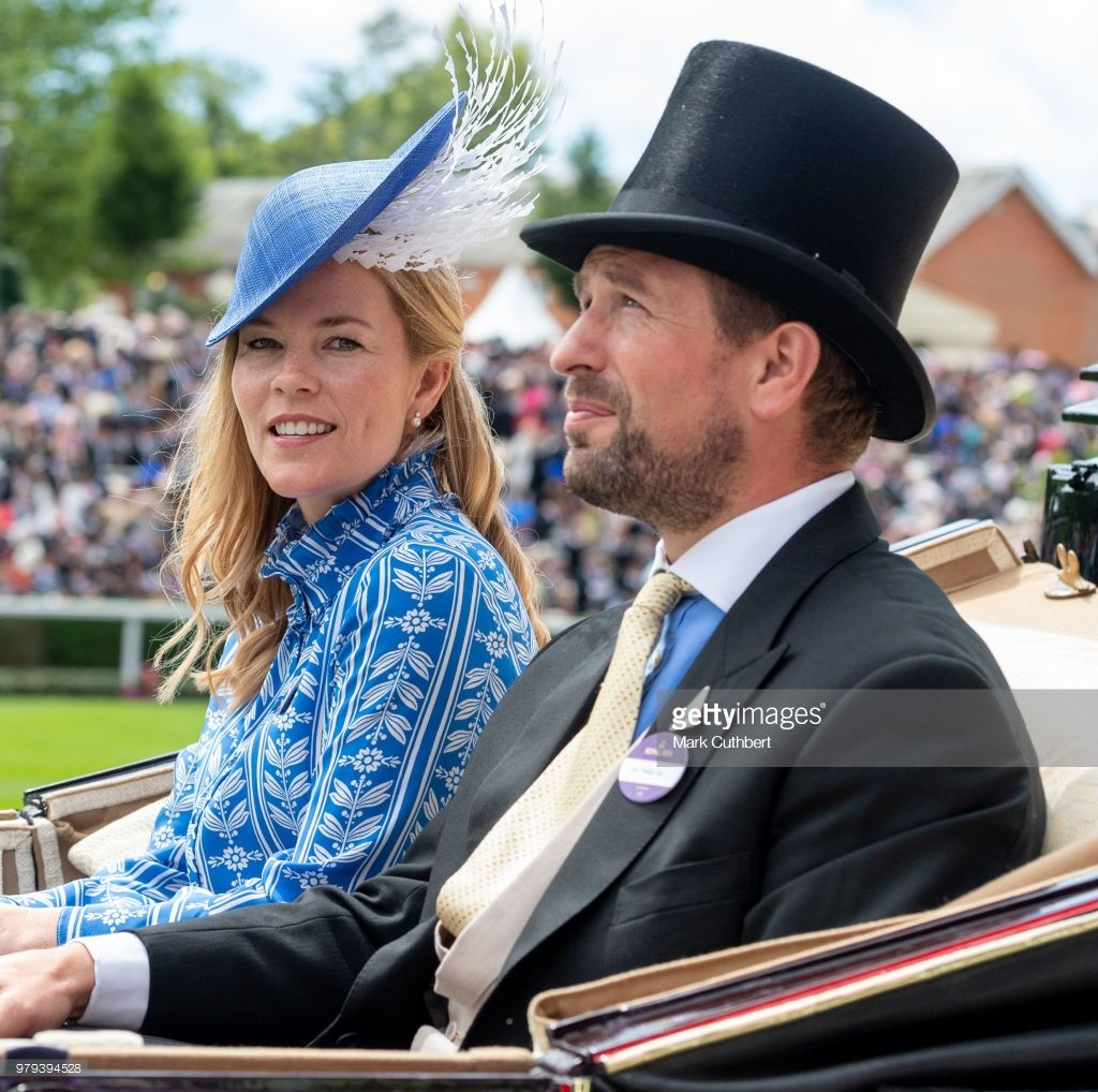 Autumn Phillips and Peter Phillips attend Royal Ascot Day ...