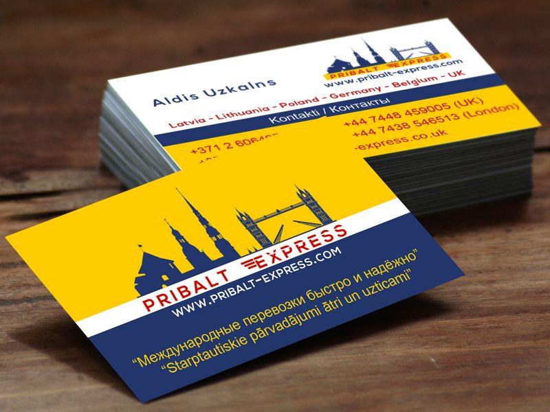Pribalt express business cards design multilingual graphic pribalt express business cards design multilingual colourmoves