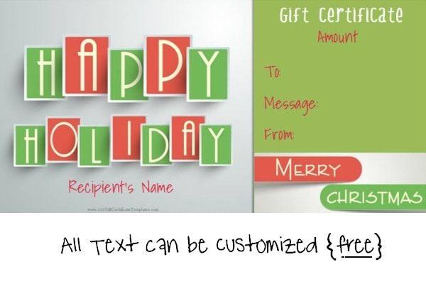 Christmas Gift Certificate Templates Christmas Gift Certificate Christmas Gift Certificate Template Printable Gift Certificate