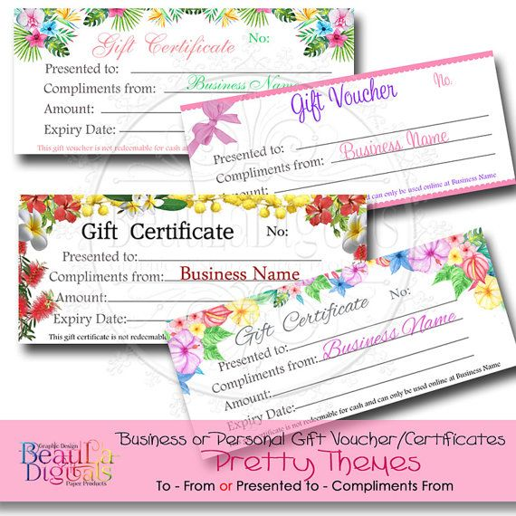Gift Voucher Template Gift Certificate by BeauBannersAustralia - gift certificate voucher template
