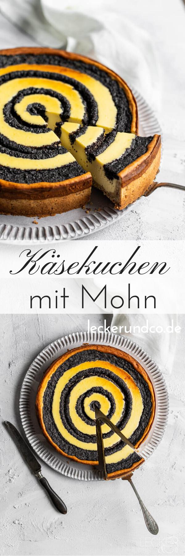 Käsekuchen mit Mohn | LECKER&Co | Foodblog aus Nürnberg