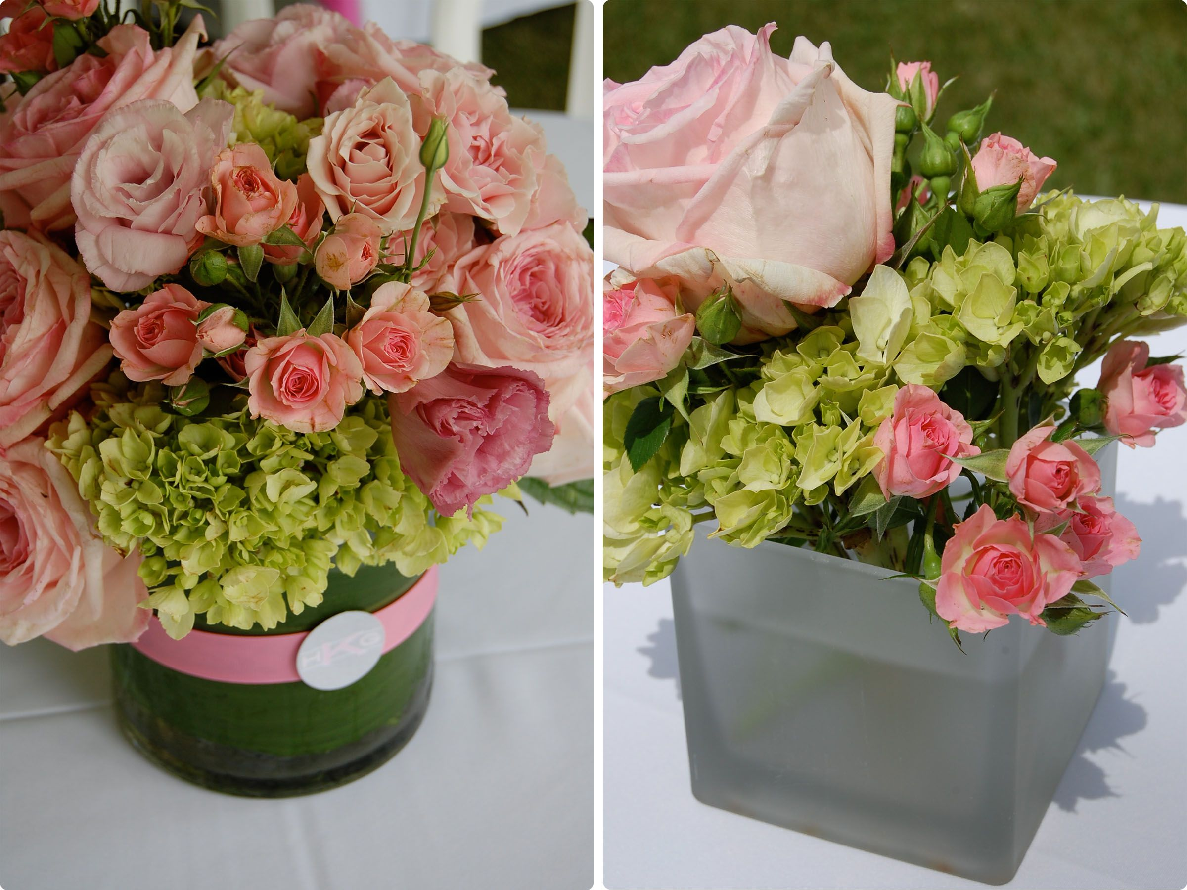 Baby shower flower centerpieces summer floral centerpieces with baby shower flower centerpieces summer floral centerpieces with green hydrangea and pink roses sat reviewsmspy