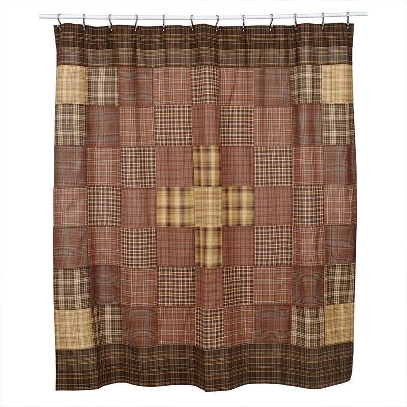 Prescott Unlined Shower Curtain Fabric Shower Curtains