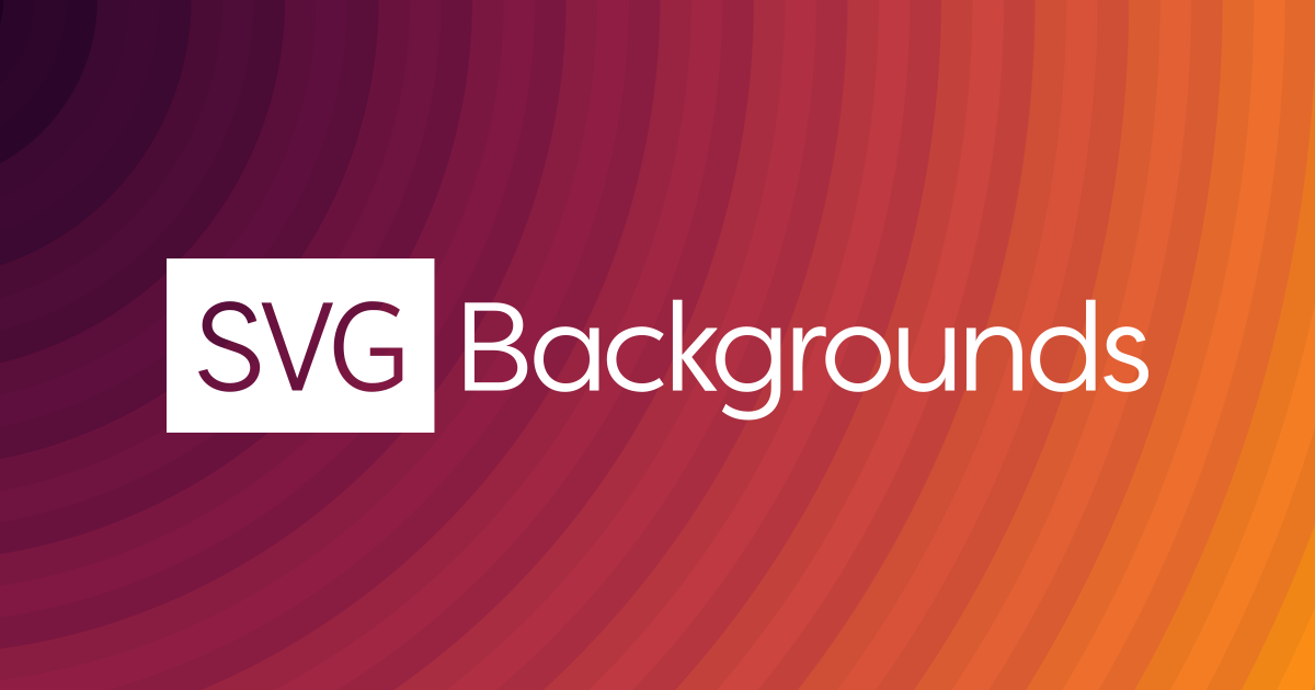 SVG Backgrounds – Create customizable, hi-def, and scalable backgrounds