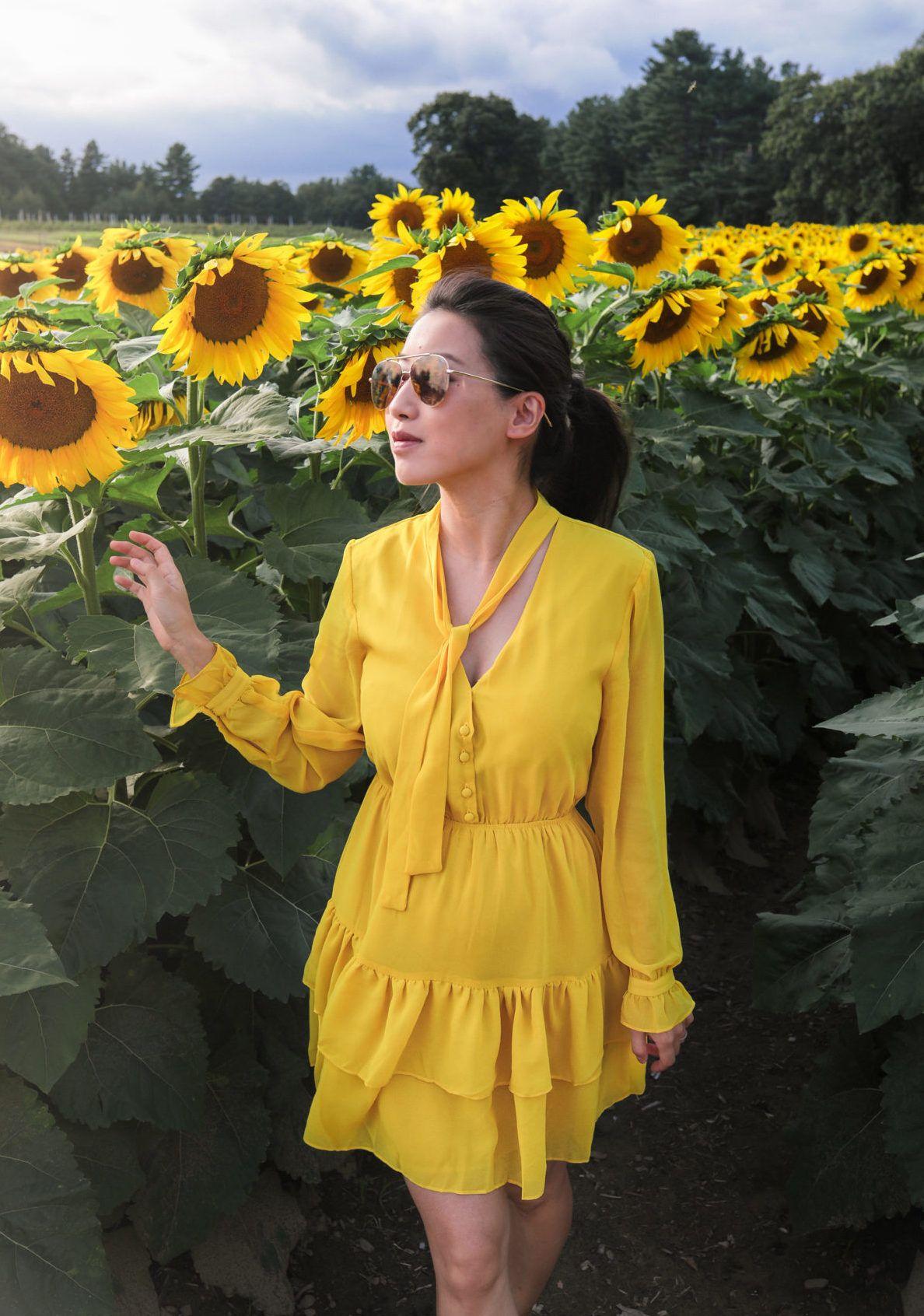 Sunflower Dress Extra Petite Yellow Dress Summer Cotton Yellow Dress Extra Petite [ 1692 x 1188 Pixel ]