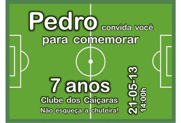 Convite Futebol Convites Futebol Festa De Futebol Convite Virtual