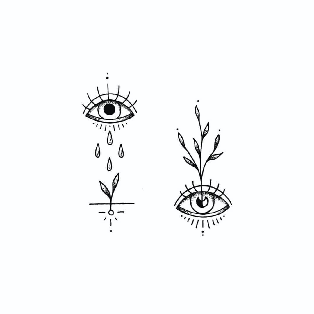 """Handpoked Tattoos on Instagram: """"Ein kleiner #friendlyreminder dass jede vergossene Träne den Samen für Neues keimen lässt � Rechts noch verfügbar � #handpoked…"""""""