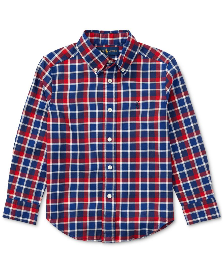 6c702145e Ralph Lauren Plaid Cotton Shirt, Toddler Boys (2T-5T)   Products ...