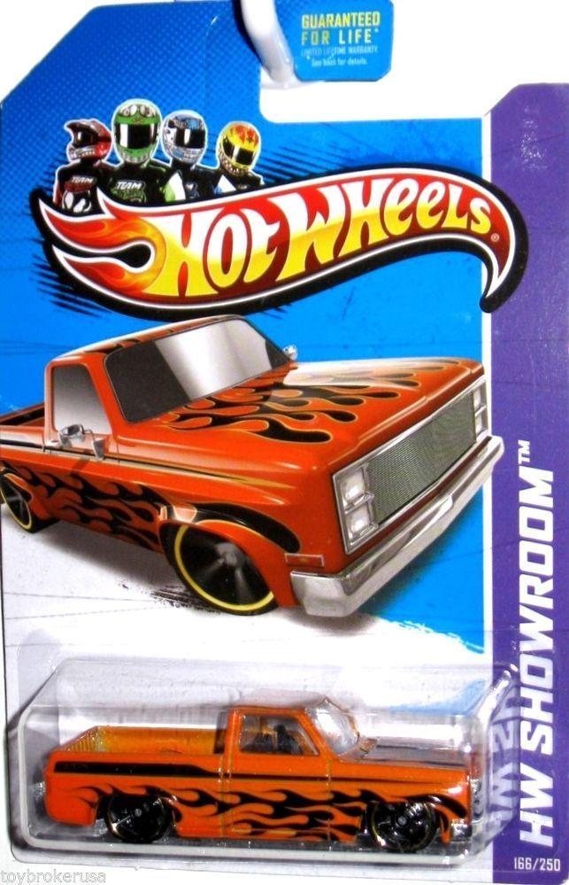 1985 Chevy Silverado Hot Wheels 2013 Hw Showroom 166 250 Orange W
