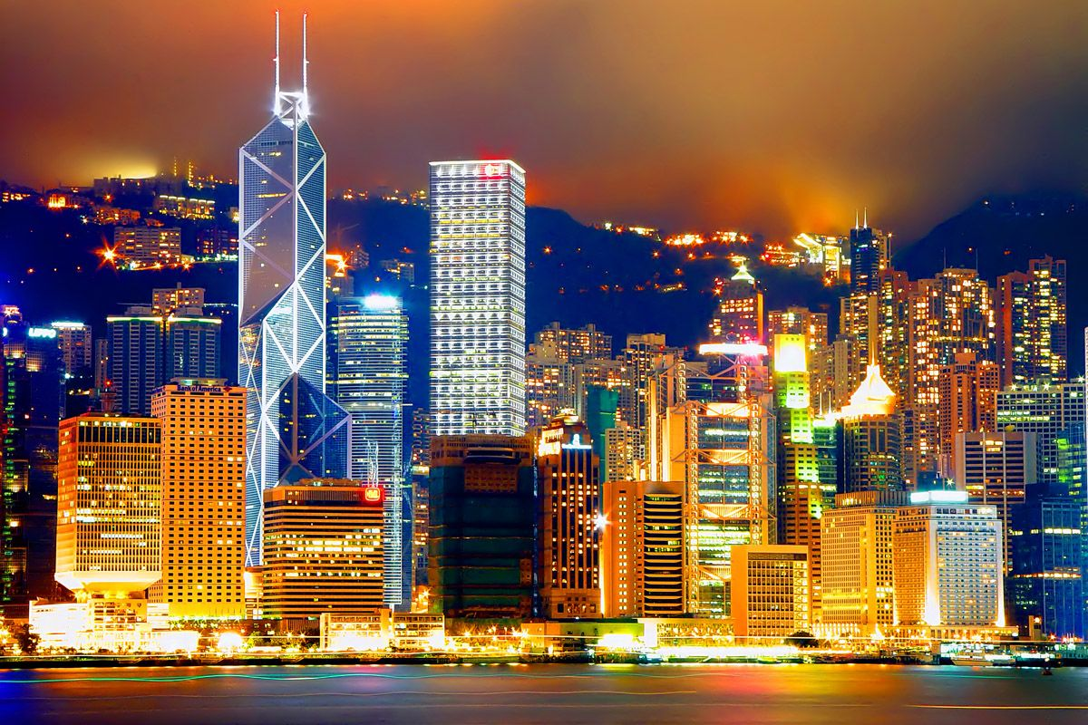 Night View Victoria Harbor Hk Central Victoria Harbour Hong Kong Best Cities