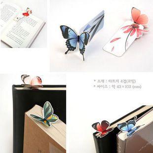جديد 14 قطع 3d فراشة المرجعية جميلة هدية كتاب مارك هدية عيد ميلاد ورقة المرجعية Stationery Gift Butterfly Bookmarks Book Markers