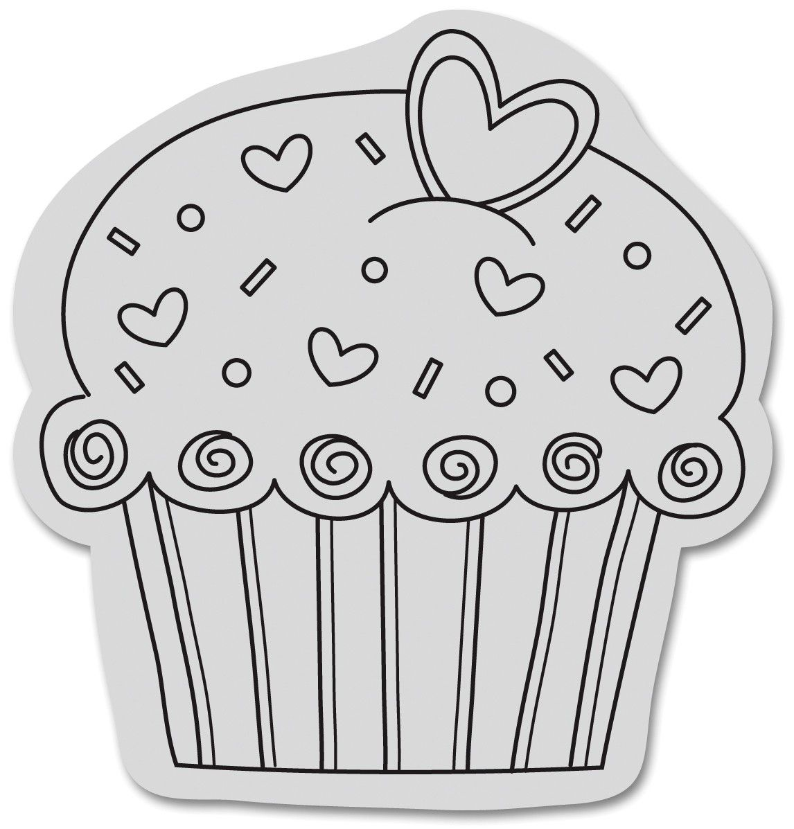Cupcake Black And White Clipart Google Search Cupcakes And
