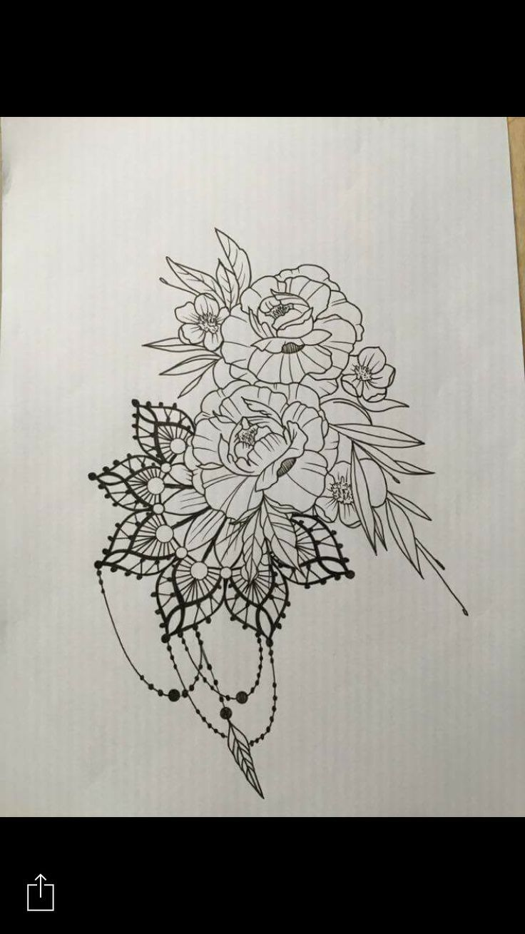 Tattooskid Mandala Flowers Tattoo Design By Santos Norway Tattoos