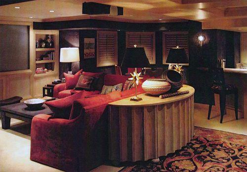 Wendy Lloyd Interior Design | Bethesda, MD  #mediaroom #entertainmentroom #familyroom #gameroom #basementmakeover #basementremodel