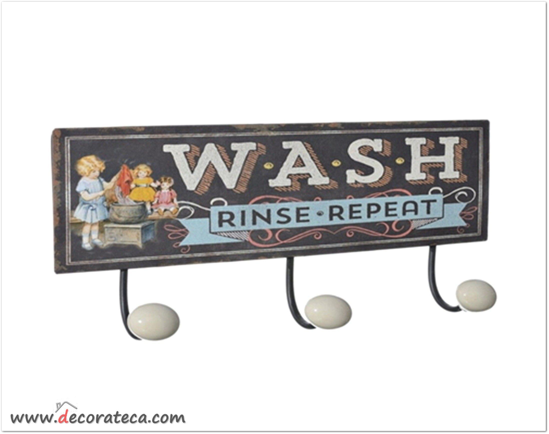Perchero de metal wash decoraci n vintage industrial - Decoracion industrial vintage ...