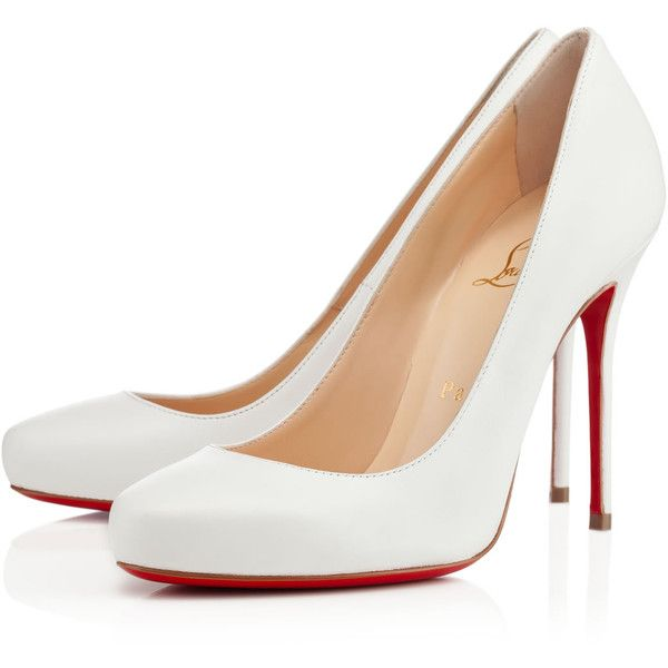tout neuf 8e130 8c4cd ELISA KID,WHITE,Kid,Louboutin,Women Shoes ($615) ❤ liked on ...