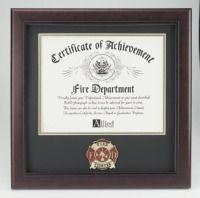 Firefighter Award Certificate Frame Firefighter