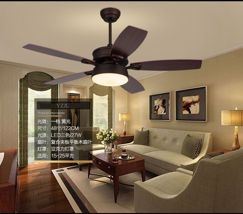 American Retro Ceiling Fan Lights Eastern Mediterranean Restaurant - Fan lights for bedrooms