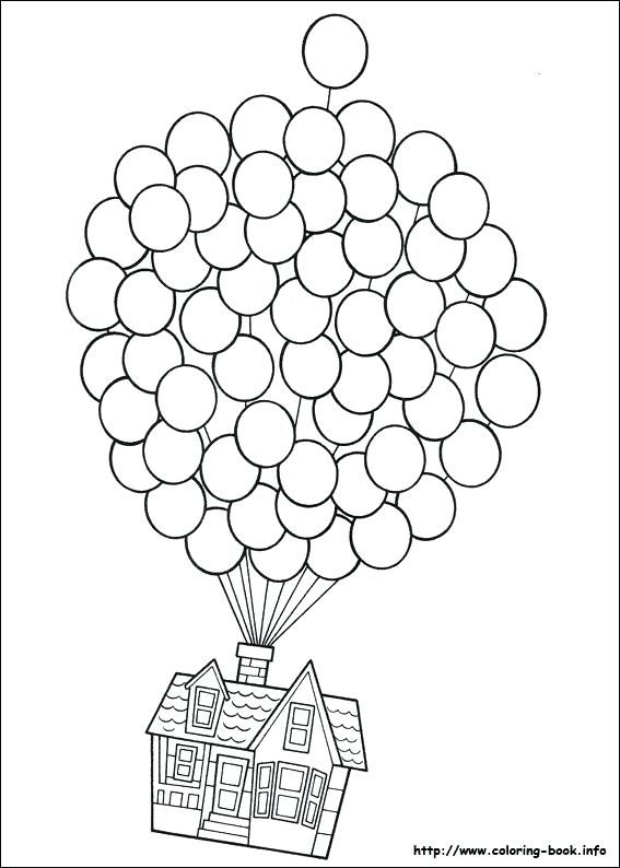 thumbs up coloring page house on balloons coloring page ...