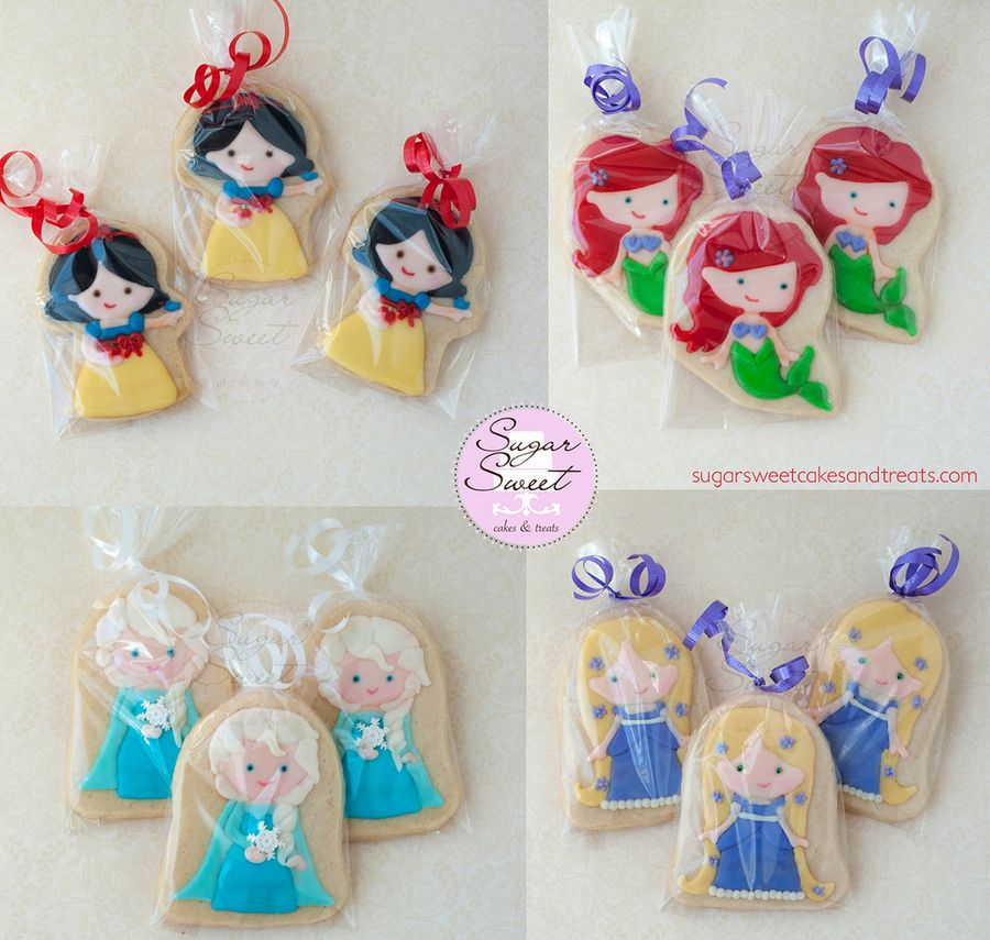 Little Princess Cookies and Favors - 3 inch shortbread cookies decorated in royal icing  by Angela Tran (www.sugarsweetcakesandtreats.com)