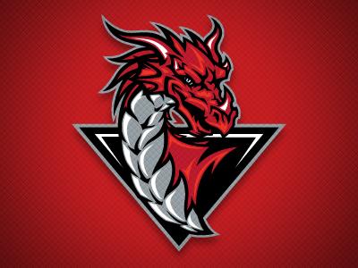 Bakersfield Dragons Secondary Logo Logo dragon, Art logo