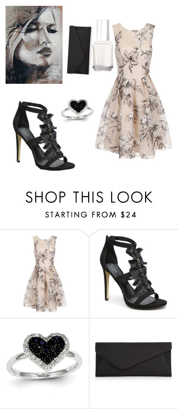 """""""Untitled #109"""" by beck133 ❤ liked on Polyvore featuring Chi Chi, Bebe, Kevin Jewelers, Accessorize and Essie"""