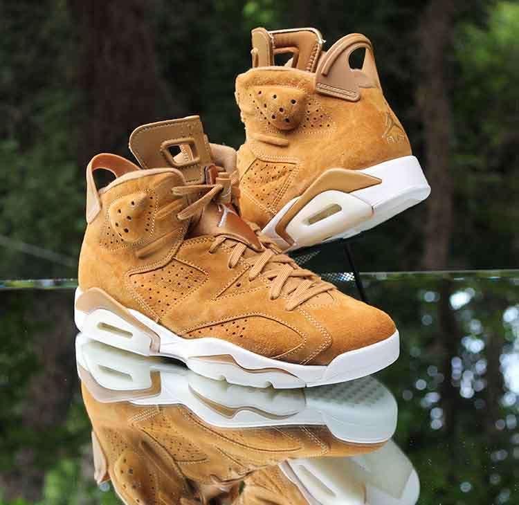 9f107c5e6cb726 Air Jordan 6 Retro Golden Harvest Wheat Sail 384664-705 Men s Size 8.5   Jordan  BasketballShoes