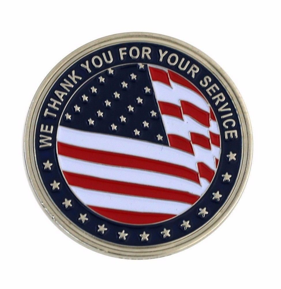 thank you for your service challenge coin