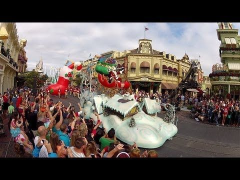 magic kingdom christmas day parade taping 2012 disney parks abc