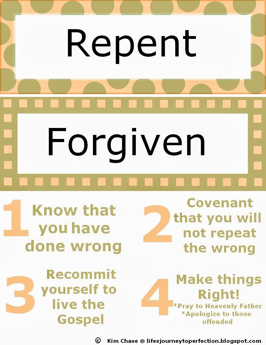 Mommy Monday - Repentance and Forgiveness Family Home Evening (June ...