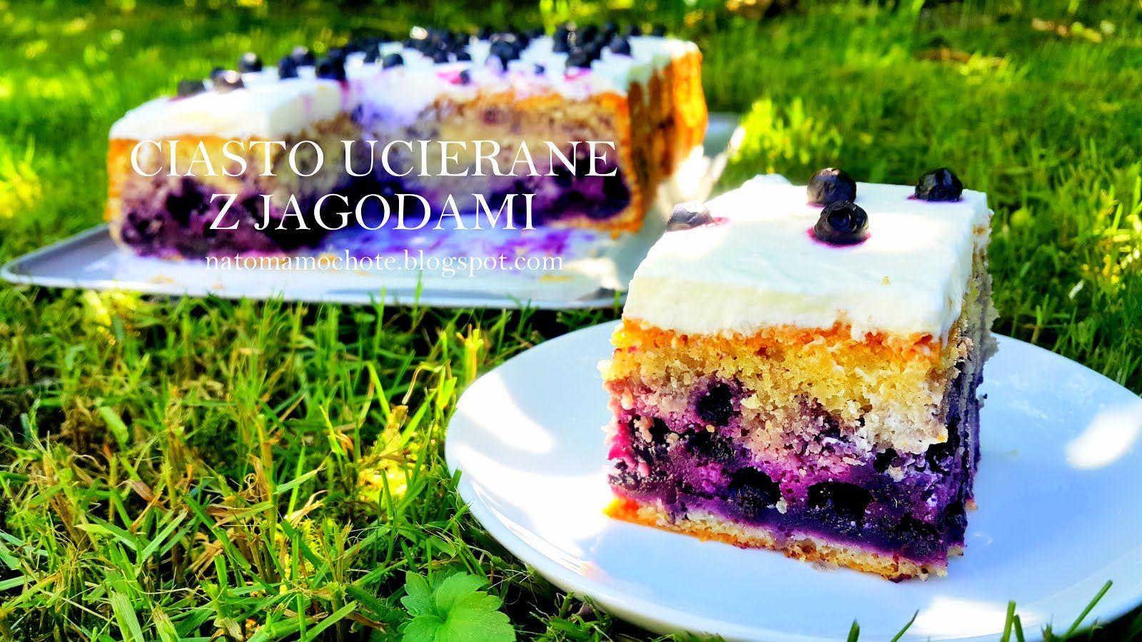 Ucierane Ciasto Z Jagodami I Bita Smietana Ciasta Cake Desserts
