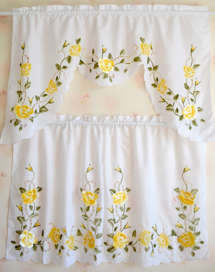 Kitchen Curtains In 2019 Cafe Curtains Elegant Curtains